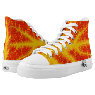 Red & Yellow Aspen Leaf #10 Printed Shoes