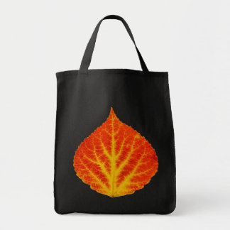 Red & Yellow Aspen Leaf #10 Tote Bag
