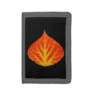 Red & Yellow Aspen Leaf #10 Trifold Wallets