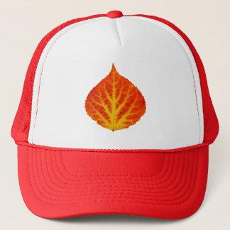 Red & Yellow Aspen Leaf #10 Trucker Hat
