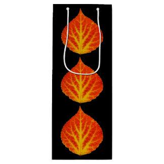 Red & Yellow Aspen Leaf #10 Wine Gift Bag