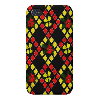 Red, Yellow, Black Art Weave iPhone 4/4S Cases