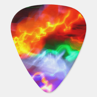 Red Yellow Blue and Green Guitar Pick