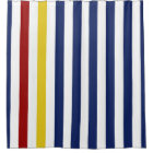 Red Yellow Blue And White Stripes Shower Curtain
