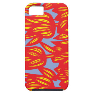 Red, Yellow, Blue, Flowers, Floral, Botanical, Nat iPhone 5 Cover