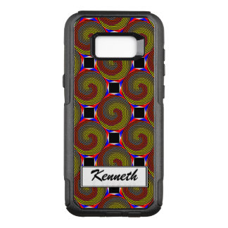Red Yellow Blue Spiral by Kenneth Yoncich OtterBox Commuter Samsung Galaxy S8+ Case