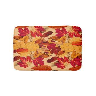 Red Yellow Brown Orange Autumn Foliage Bath Mats