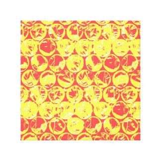 Red yellow bubble wrap pop art canvas print