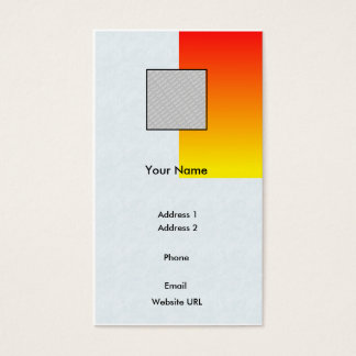 Red/Yellow-Business Business Card