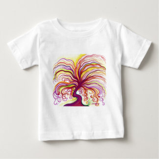 Red & Yellow & Colorful Tree Baby T-Shirt