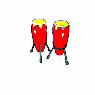 Red Yellow Congas in stands graphic image Acrylic Cut Outs
