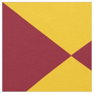 Red, yellow, diamond fabric