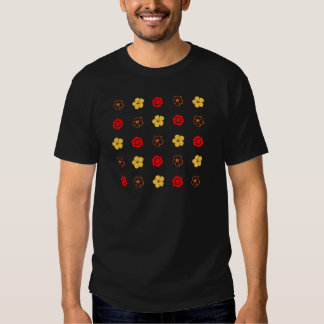 Red & Yellow Flower Pattern: T Shirt