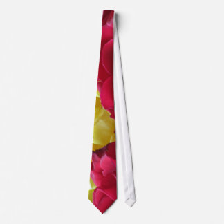 Red Yellow Flower Tie