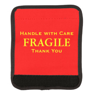 Red Yellow Fragile Handle with Care Thank You Luggage Handle Wrap