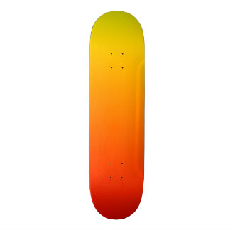 "Red Yellow ""Fuego"" Gradient Skateboard Deck"