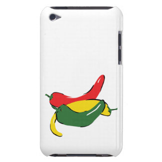 Red Yellow Green Chili Pepper Graphic Barely There iPod Covers