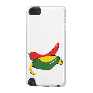 Red Yellow Green Chili Pepper Graphic iPod Touch 5G Covers
