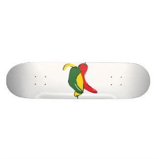 Red Yellow Green Chili Pepper Graphic Skateboards