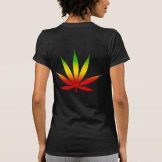 Red Yellow & Green Rasta Leaf Jamaican Jamaica T-Shirt