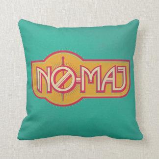 Red & Yellow No-Maj Badge Cushion