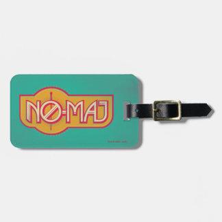 Red & Yellow No-Maj Badge Luggage Tag