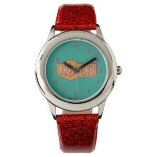 Red & Yellow No-Maj Badge Watch