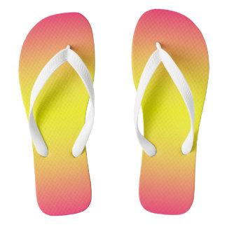 Red Yellow Ombre Flip Flops