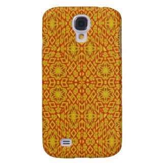 Red Yellow Pattern Galaxy S4 Case