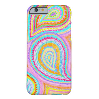 Red Yellow Pink Boho Paisley Pattern Barely There iPhone 6 Case