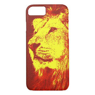Red Yellow Pop Art Lion iPhone 7 Case