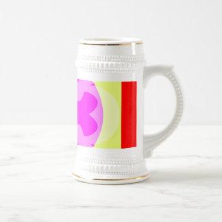 red yellow purple coffee mug
