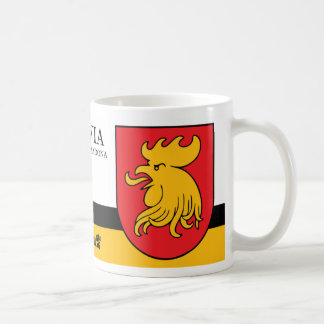 Red Yellow Rooster Shield from Madona Latvia Coffee Mug
