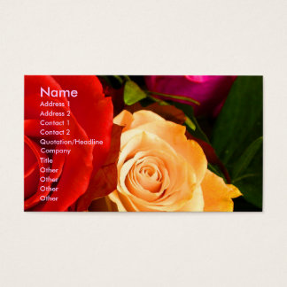 Red Yellow Rose Artist I Business Card