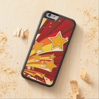 Red Yellow Shooting Stars Maple iPhone 6 Bumper Case