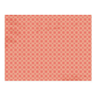 Red Yellow small Pattern Background Post Card
