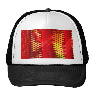 Red Yellow Stairs Abstract Saturated copy Trucker Hats