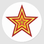 Red Yellow Star Stickers