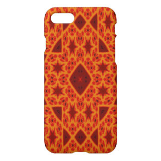 red yellow triangle and star pattern iPhone 8/7 case