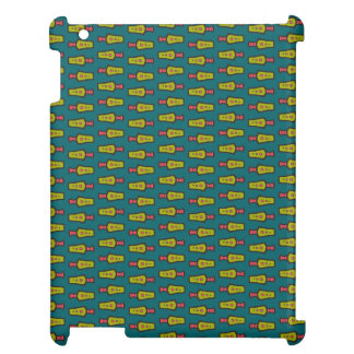 Red, Yellow Tribal on Teal: iPad Savvy Case iPad Cover