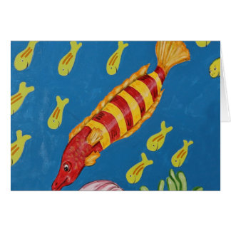 Red & Yellow Tropical Fish Card