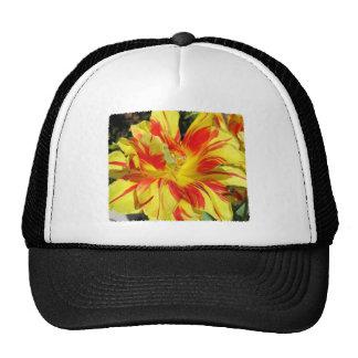 Red-Yellow Tulip Trucker Hats