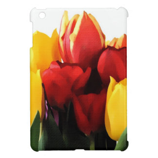 Red Yellow Tulips Cover For The iPad Mini