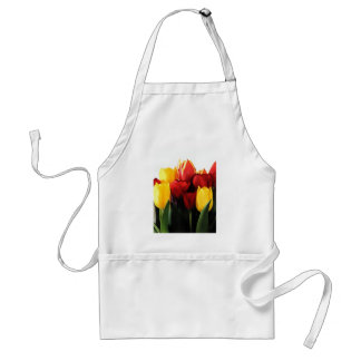 Red Yellow Tulips Standard Apron