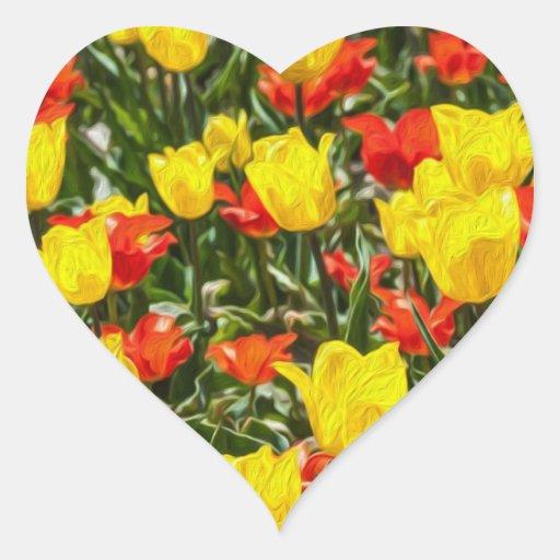 Red & Yellow Tulips Sticker