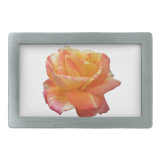 Red Yellow Variegated Rose Belt Buckles