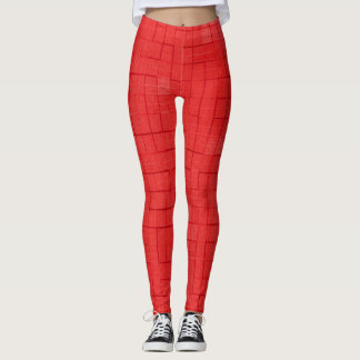 Red Yoga Fitness Leggings