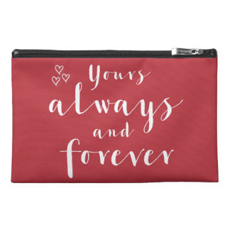 Red Yours Always And Forever Travel Accessory Bag