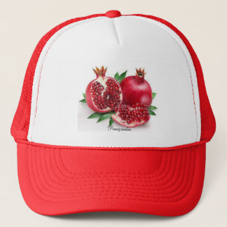 Red Yummy Pomegranates, Trucker Hat