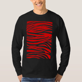 Red Zebra in Black and Red T-Shirt